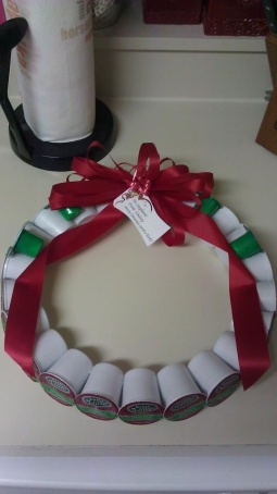 k-cup wreath