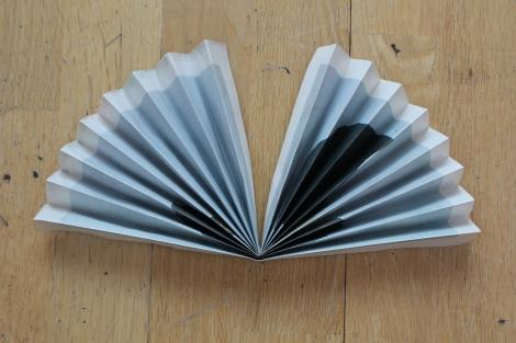 blue paper fan